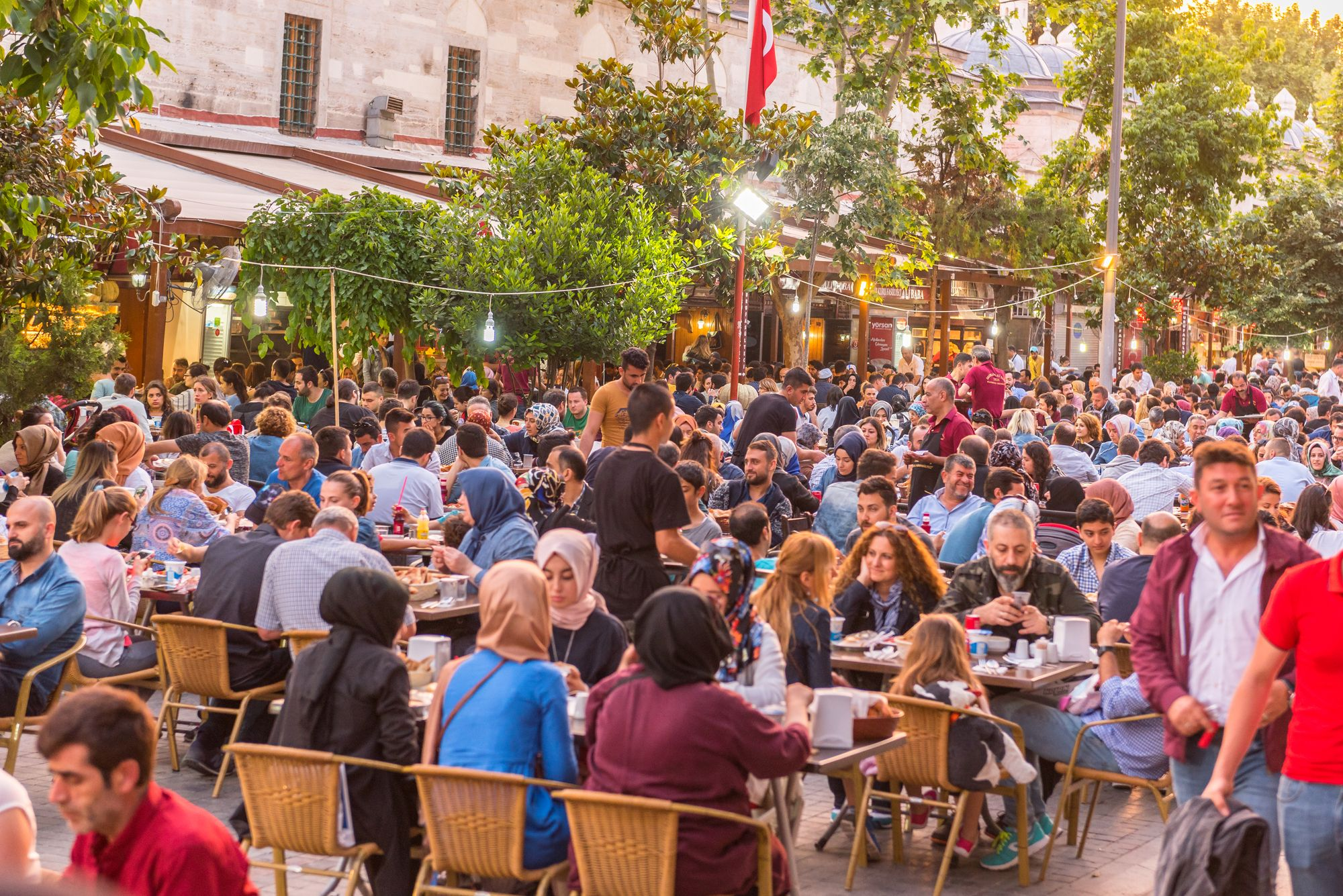 Public iftar meals in Istanbul