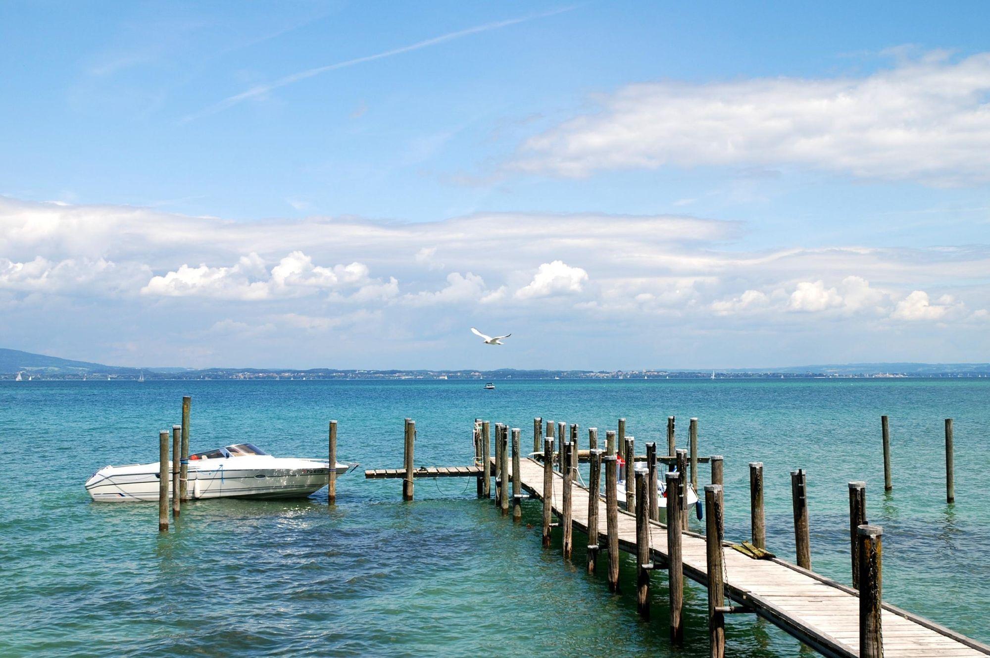 Бирюзовая вода Боденского озера