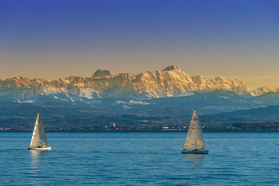 Breathtaking Alpine panoramas of Lake Constance