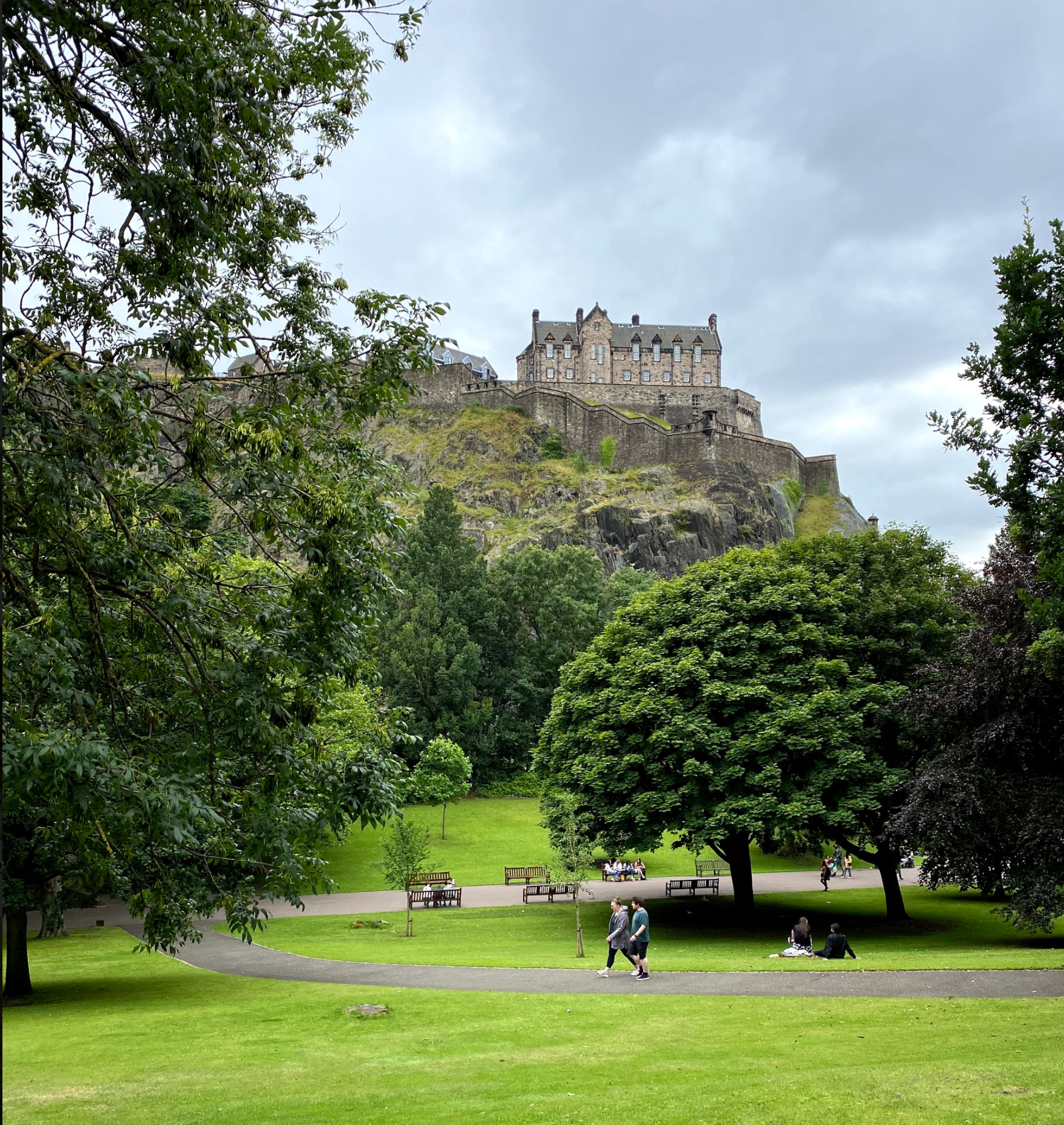 Edinburgh Castle view from Princes Street Gardens