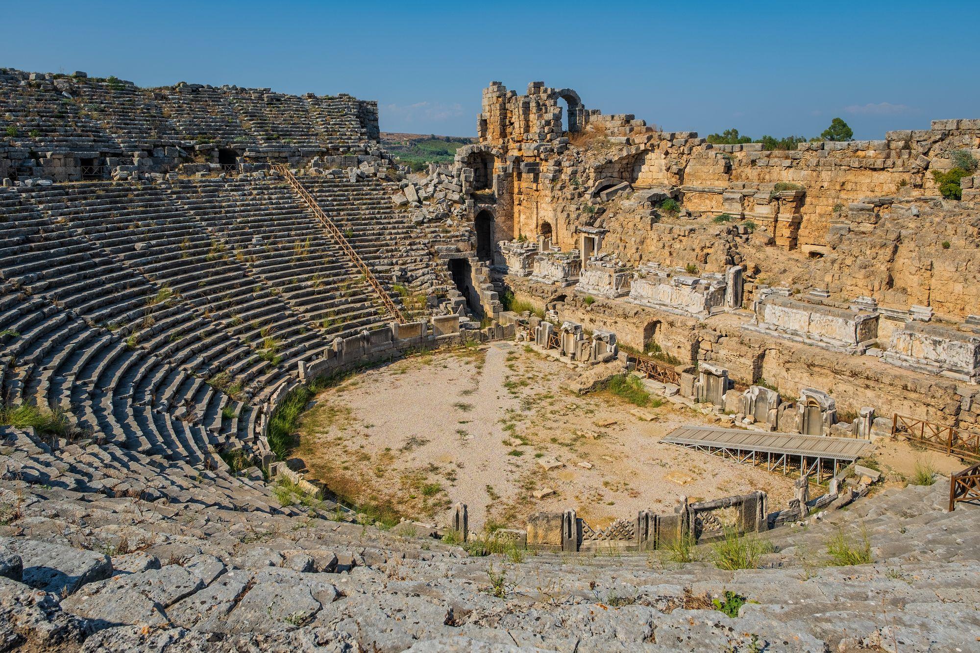 The ancient theatre of Aspendos