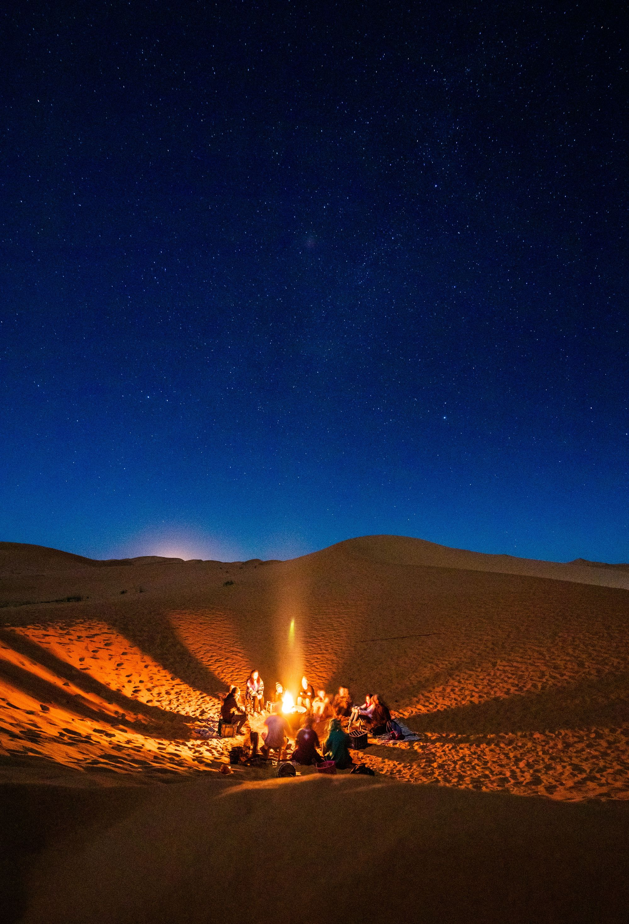 Enjoy the desert campfires at night