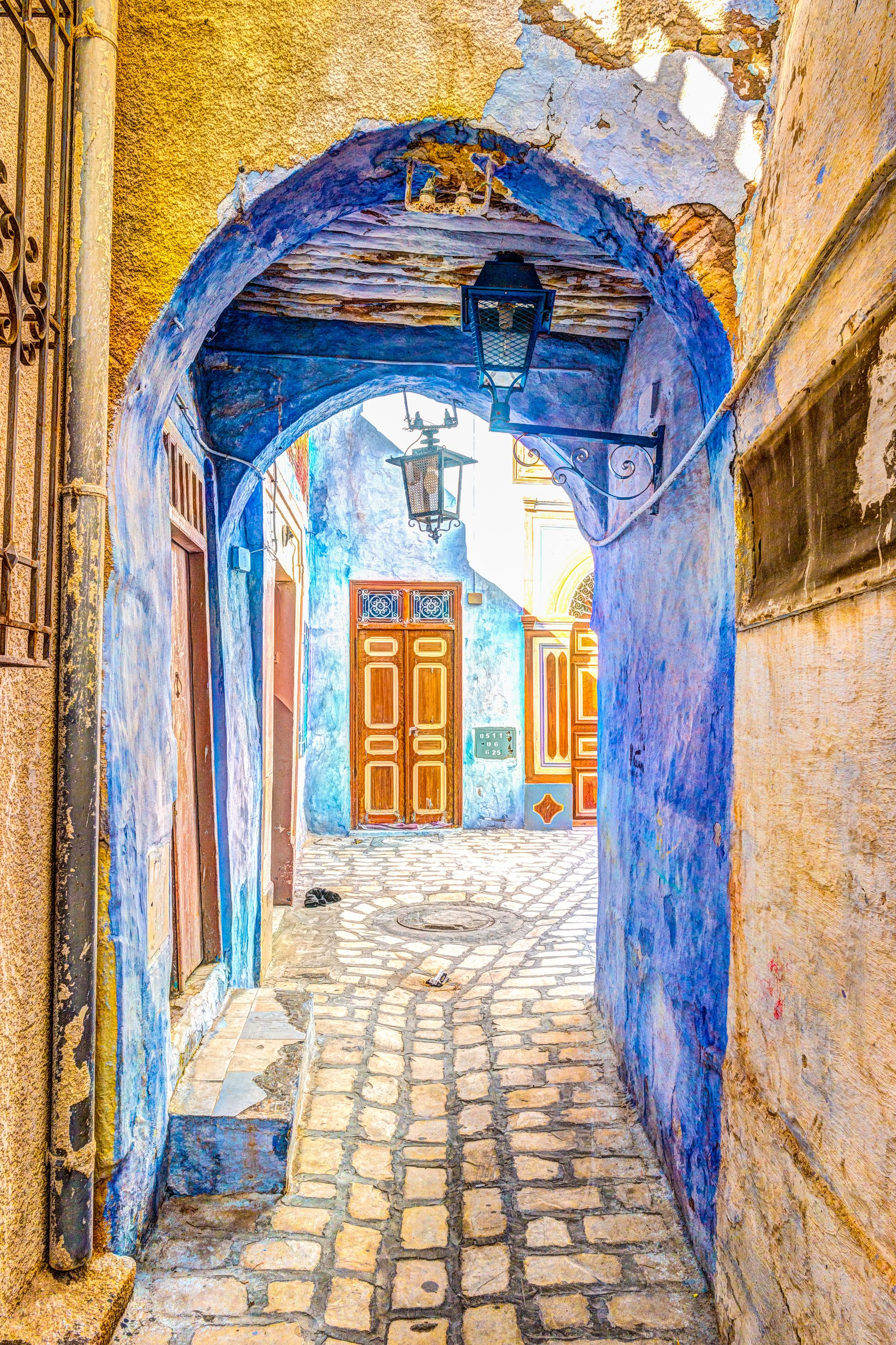 Beautiful streets of Tunis