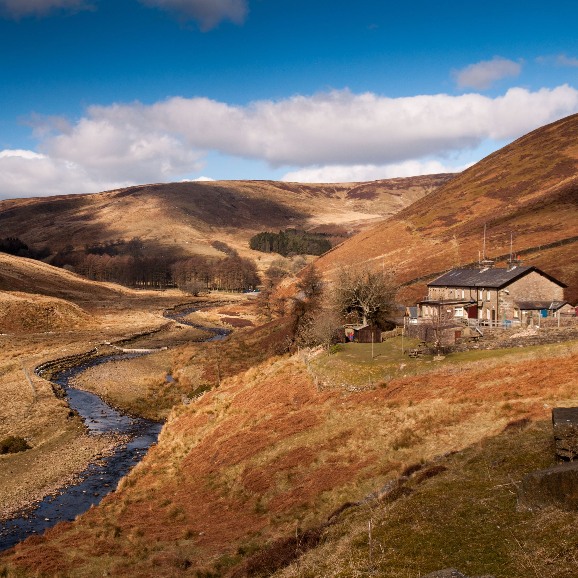 Trough of Bowland valley in Lancashire