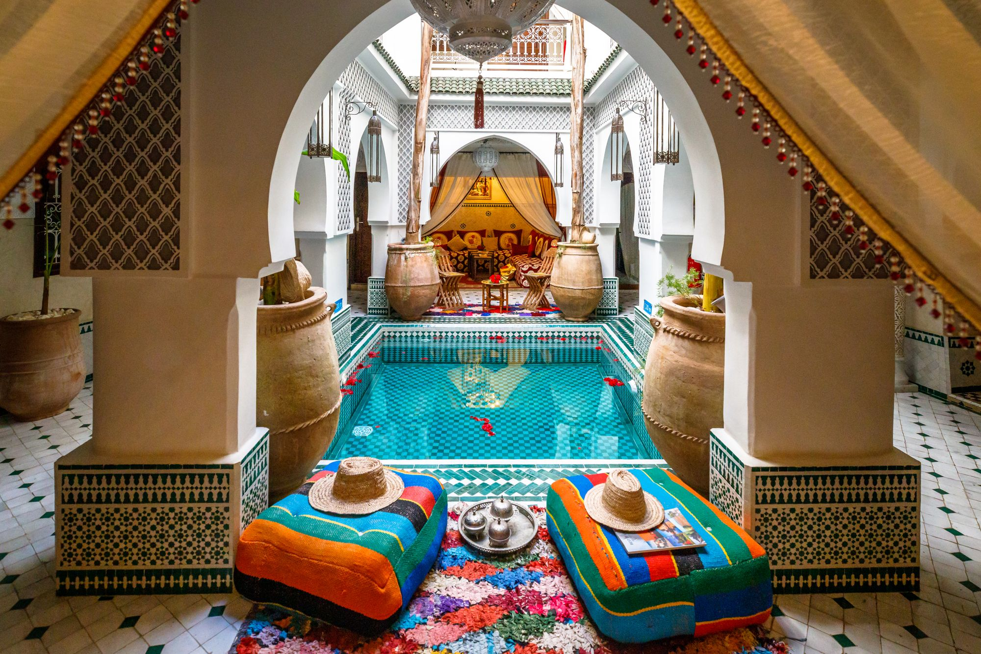Moroccan villa could be the ideal choice for a relaxed honeymoon or romantic getaway.