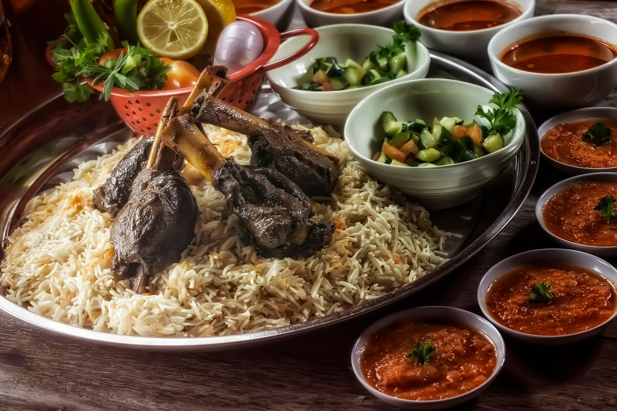 Delicious halal food in the UAE