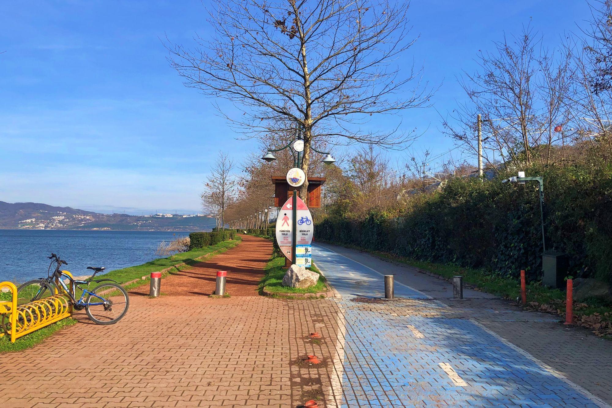 Take a bicycle trip or just walk around Sapanca lake