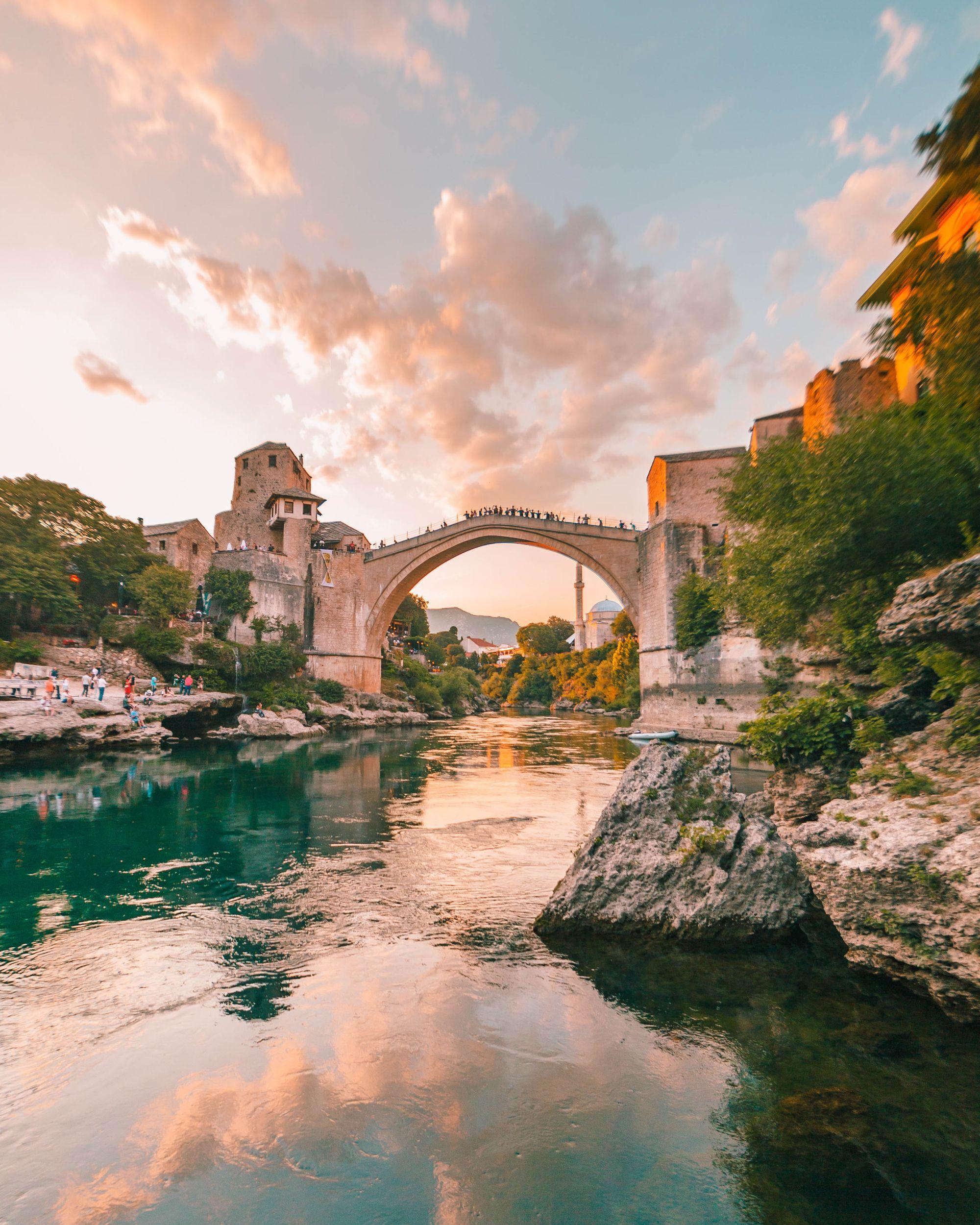 Mostar's famous bridge
