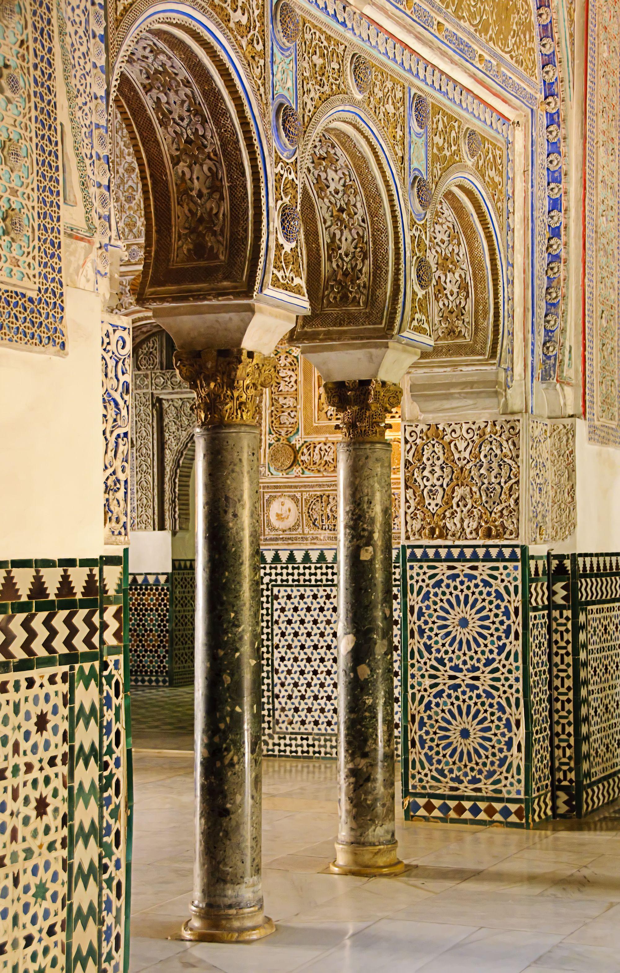 Интерьер Севильского Алькасара