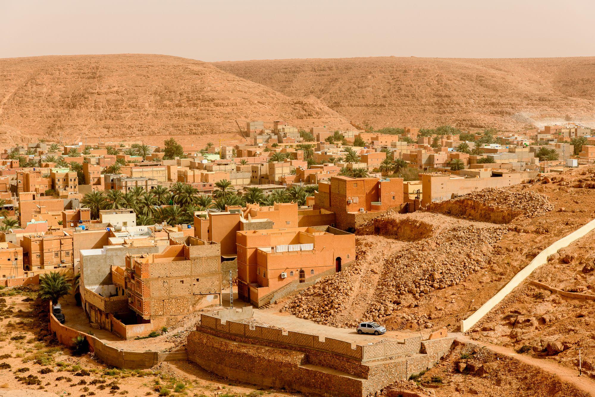 Panorama of Ghardaia (Tagherdayt), Algeria, UNESCO world heritage site