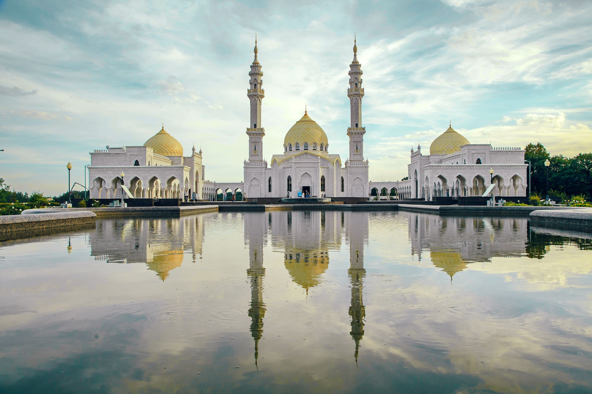 White mosque of the Bulgarians. Bolgar, Russia.