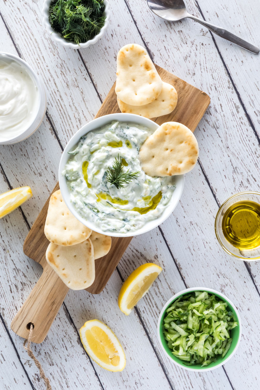 Traditional greek yogurt sauce Tzatziki